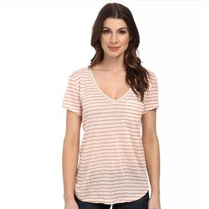 PAIGE Rose dust With White Striped Lynnea T-Shirt